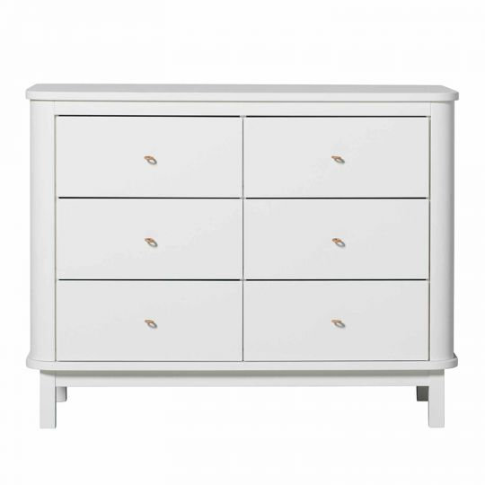 oliver furniture wood kommode 6 schubladen weiss engel bengel onlineshop. Black Bedroom Furniture Sets. Home Design Ideas