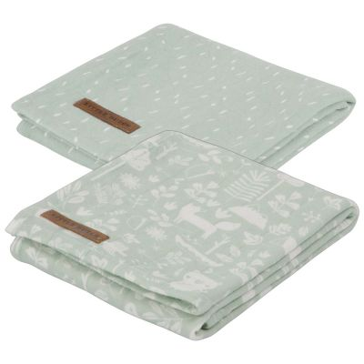 Little Dutch Pucktücher Jersey Adventure Mint 70x70 cm 2er-Set