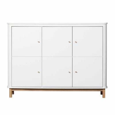 Oliver Furniture Wood Multi-Schrank 3-türig Eiche