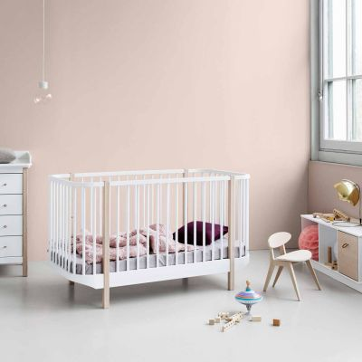 Oliver Furniture Babybett Kinderbett Wood Collection Eiche 70x140 cm