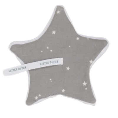 Little Dutch Schnullertuch Stern Little Stars Grey
