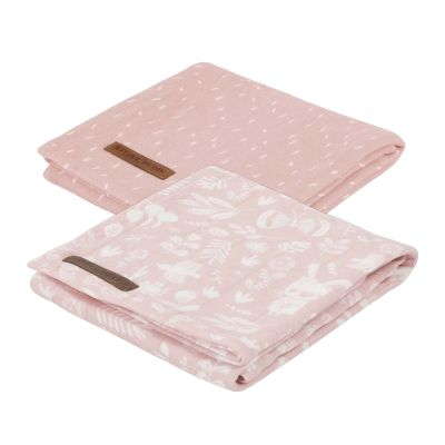Little Dutch Pucktücher Jersey Adventure Pink 70x70 cm 2er-Set