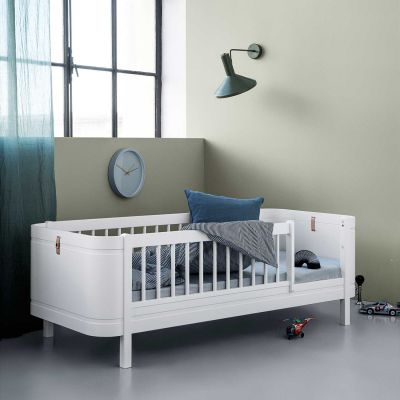 Oliver Furniture Juniorbett Mini+ Wood Collection Weiß 68x162 cm
