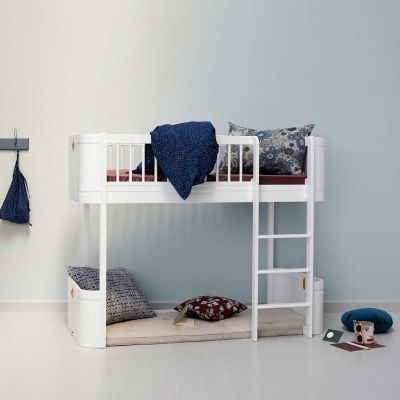 Oliver Furniture Ha... Oliver Furniture Halbhohes Hochbett Mini+ Wood  Collection Weiß 68x162 Cm