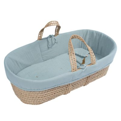 Numero 74 Moses Babykorb Rattan Sweet Blue