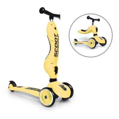 Scoot and Ride 2 in 1 Scooter Highwaykick 1 Lemon