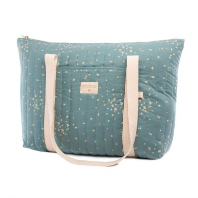 Nobodinoz Wickeltasche Paris Gold Confetti/Magic Green