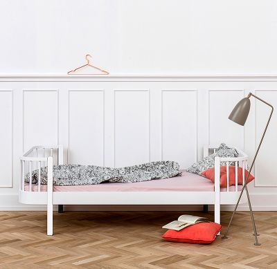 Oliver Furniture Bett Einzelbett Wood Collection Weiß 90x200 cm