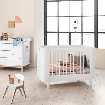 Oliver Furniture Babybett Mini+ Wood Collection Weiß 68x122 cm