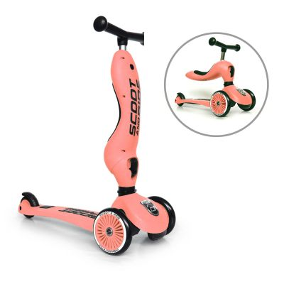 Scoot and Ride 2 in 1 Scooter Highwaykick 1 Peach