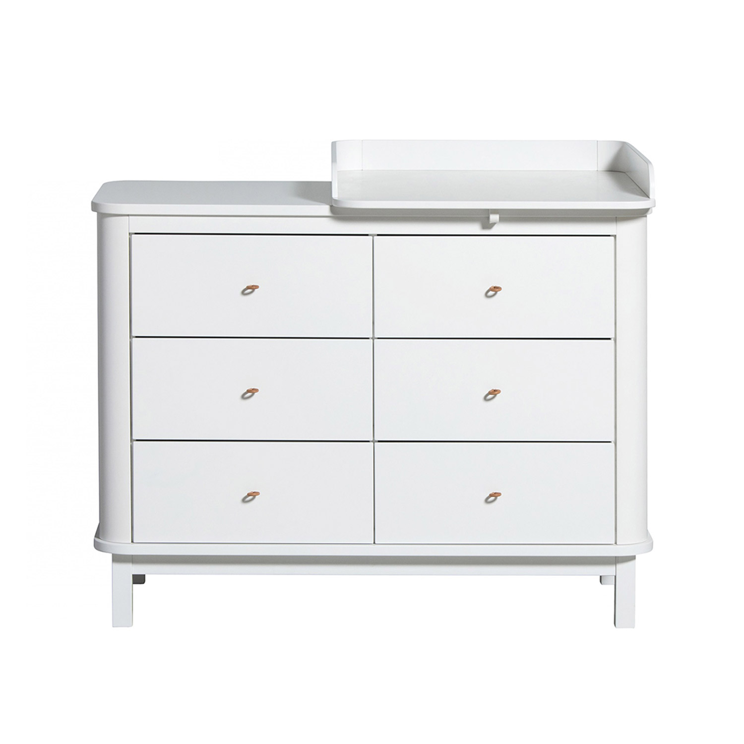 Oliver Furniture Wood Kommode 6 Schubladen Weiss Wickelplatte