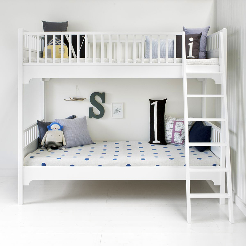 Kinderbetten - Oliver Furniture Etagenbett Stockbett Seaside Collection mit schräger Leiter  - Onlineshop Engel und Bengel