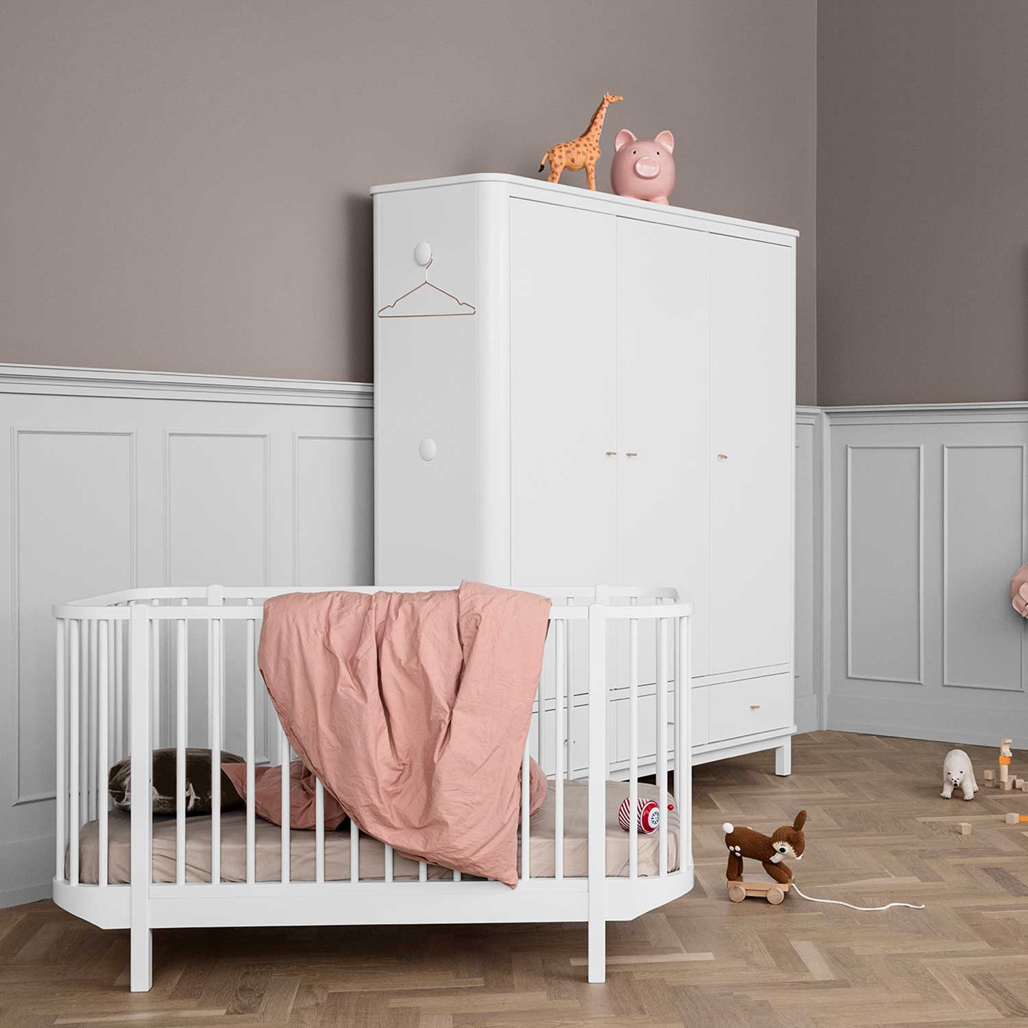 Oliver Furniture Babybett Wood Collection Weiß 70x140 cm