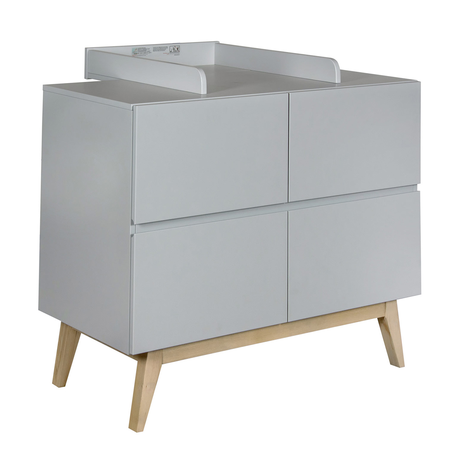 Quax Trendy Wickelaufsatz für Kommode Trendy, Griffin Grey