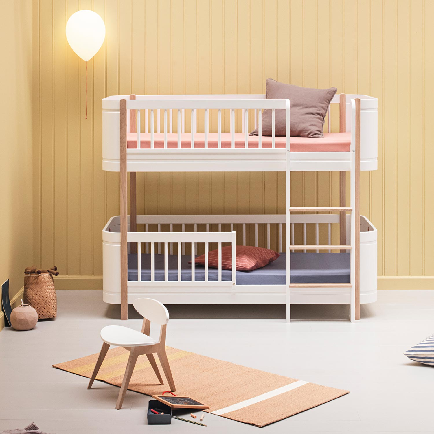Oliver Furniture Halbhohes Etagenbett Mini Wood Collection Eiche