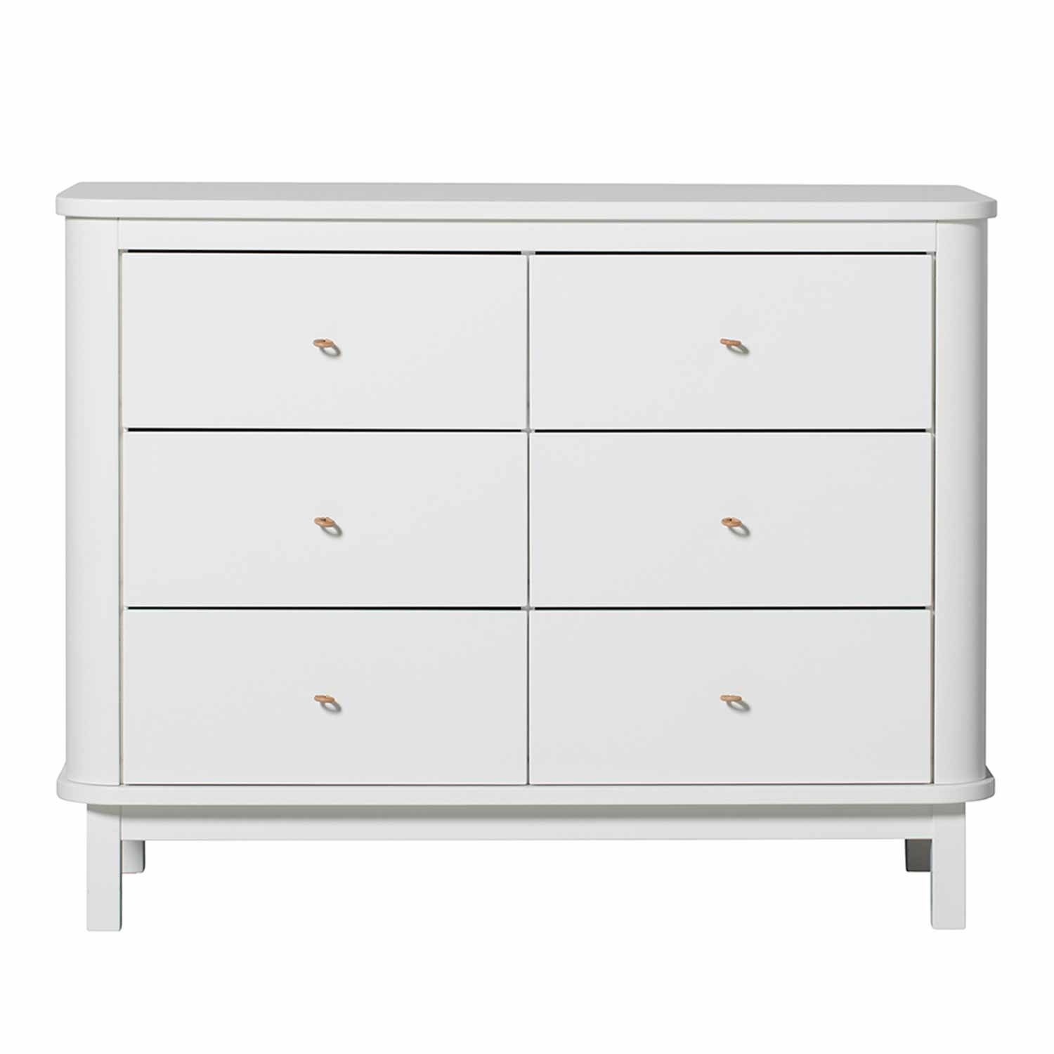 Oliver Furniture Wood Kommode 6 Schubladen Weiss