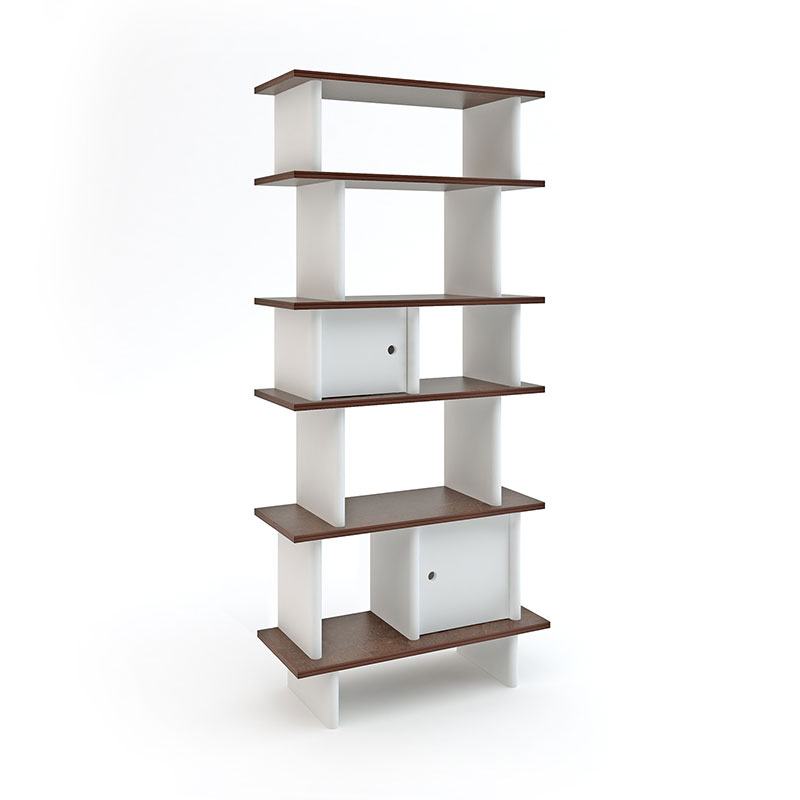 Oeuf Regal Vertical Mini Library in Walnuss