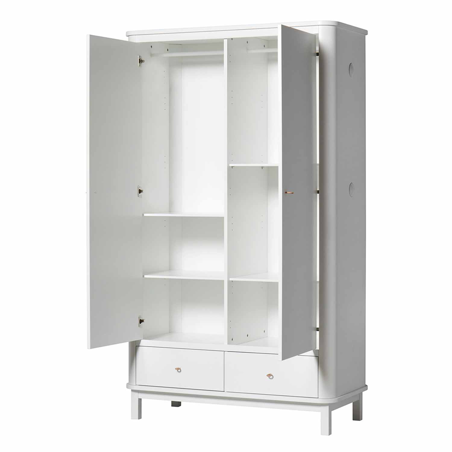 Oliver Furniture Wood Kleiderschrank 2 Turig Weiss Engel Bengel