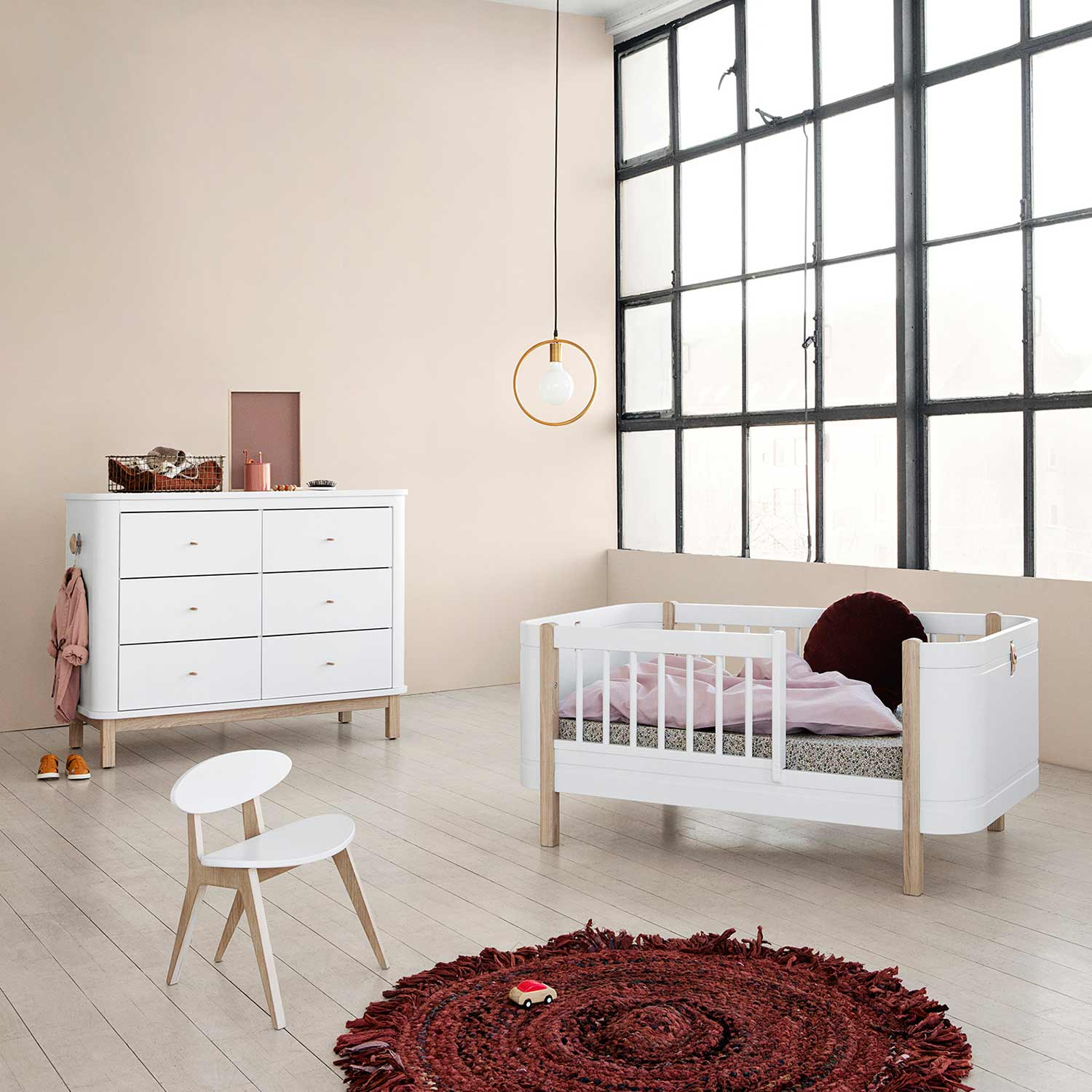 oliver furniture babybett mini wood collection eiche. Black Bedroom Furniture Sets. Home Design Ideas
